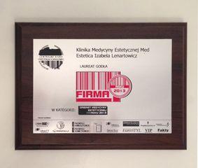 Laureat Godła 2013 - certyfikat