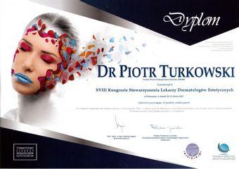 Dyplom XVIII Kongres Stowarzyszenia Lekarzy Dermatologów Estetycznych