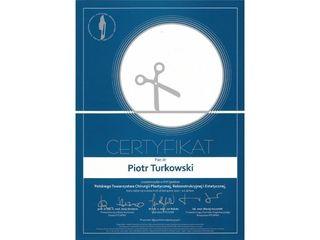 Certyfikat Dr Piotr Turkowski