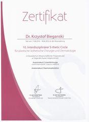 Certyfikat Krzysztof Biegański