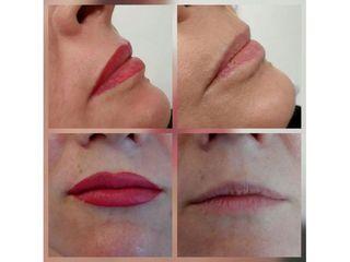 Przed i po - makijaż permanentny ust